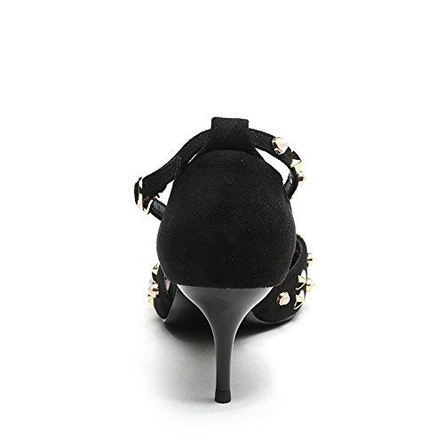 Hoxekle Donne Sexy Tacchi Alti Pompe A Spillo Primavera Moda Scarpe Nuovo Elemento Nero