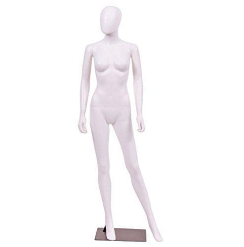 LIKE SHOP 5.8 FT Female Mannequin Egghead Plastic Full Body Dress Form Display w/Base by LIKE SHOP