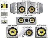 Acoustic Audio HD728 7.2 Home Theater Speaker System (White) (Package Subwoofer Home)