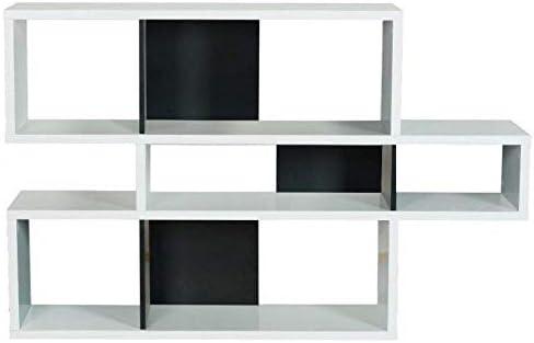Tema Home London Biblioteca Design 3 Niveles Blanca con ...