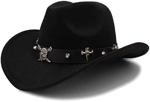 56bc40038df56 HXGAZXJQ Unisex Warm Fedora Hat Equestrian cap Comfortable Dakota Crushable  Wool Felt Western Cowboy Casual Hat. Loading Images.