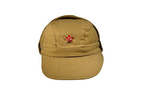Made in USSR Original Soviet Russian Army Soldier Field Afghan cap Afghanka Original ()