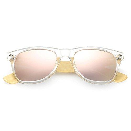 de en soleil bois rétro de vintage Womens de C12 de bambou Lunettes polarisées soleil femmes Yying blanches des Lunettes de 1qTpX5