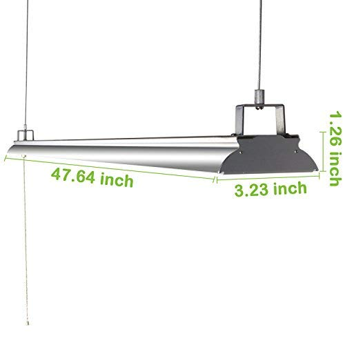Hykolity 4FT 40W LED Shop Light With Pull Chain, 4200lm
