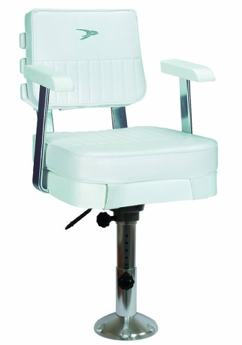 Wise 8WD562-6-710 Ladder Back Helm Chair with Adjustable Height Pedestal and Seat Slide, White