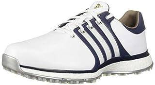 Zapatillas de golf adidas TOUR360 XT Spikeless para hombre, FTWR blanco / azul marino universitario / plateado metalizado, 11 M EE. UU.