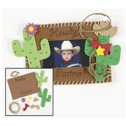 Amazon Com 12 Foam Western Photo Frame Magnet Craft Kits
