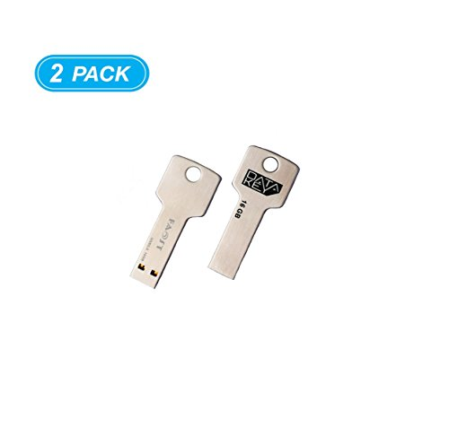 16 Gb A-data Usb (2 Pack,Faost Metal Key USB Drive DM1044A,16gb Memory Stick Pen drive,Data Transfer External Storage Device,Complete case protect USB port from damage)