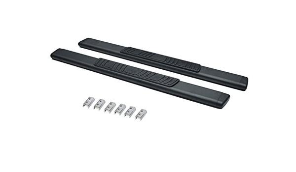 Complete Kit: Side Steps, Brackets - Cab Length Go Rhino 685423971T Black 5 OE Xtreme Low Profile Side Step for Jeep