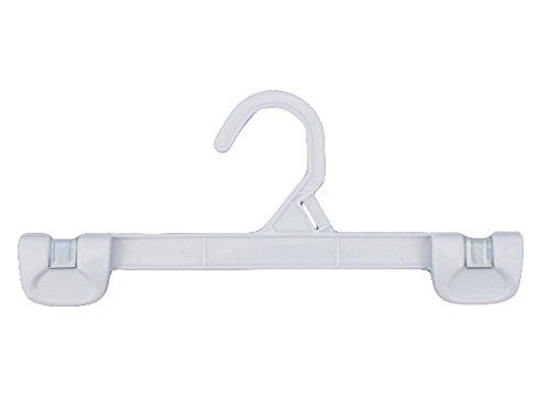 NAHANCO 1681/12W Snap Grip Plastic Hook Skirt/Slack Hanger, 12'', White (Pack of 200)