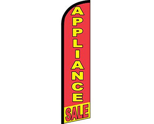 ALBATROS Appliance Sale Red Yellow Windless Banner Advertising Marketing Flag for Home and Parades, Official Party, All Weather Indoors -