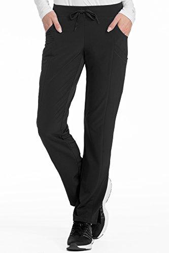(Med Couture Women's 4-Ever Flex Stretch 2 Cargo Pocket Slim Fit Scrub Pant, Black, X-Small)