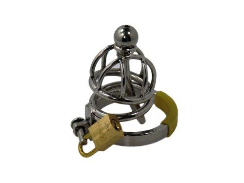 Ring Cage XXS Steel, mini Keuschheitsgürtel für Männer, Peniskäfig klein aus Edelstahl (Cockring 4.2 cm)