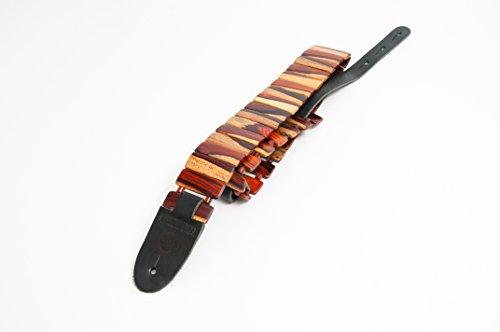 Wood Guitar Straps (Revo - Wooden Revo Style Guitar Strap (Cocobolo))