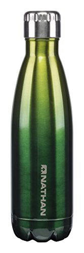 Nathan NS4427 Chroma Steel Ombre Water Bottle, Lime Punch/Everglade, 17 oz/500ml