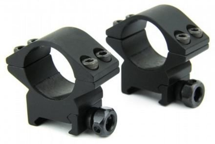 """TacFire 1"""" Inch Low Profile Rifle Scope Rings Heavy Duty (Two Pieces , One Pair) for Picatinny/Weaver Style Rail, T6 6061 Aluminum"""