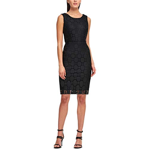 DKNY Womens Lace Cocktail Sheath Dress Black 10 (Dkny Dress Women)
