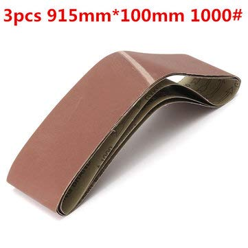 Power Tool Accessories Abrasive Tools - 3pcs 915mm100mm Alumina Sanding Belts 1000 Grit Sandpaper Self Sharpening Oxide Abrasive Strips - 3pcs x Sanding Belt