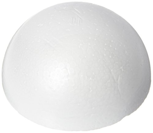 Smoothfoam RT125H-6 Pastel Half Ball, 3.25-Inch, White, 6-Pack]()