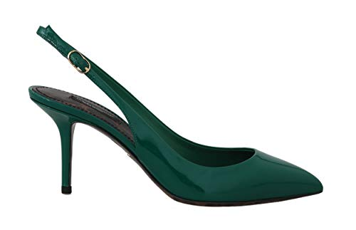 Dolce & Gabbana Green Patent Leather Slingbacks