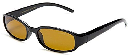 Eagle Eyes Palisade Sunglasses,Shiny Black Frame/Gold Brown Lens,one (Eagles Black Frame Sunglasses)
