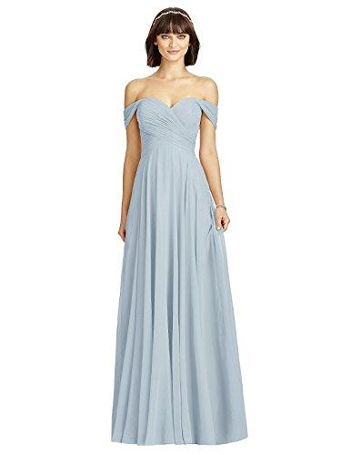 Dessy Style 2970 Floor Length Chiffon Circle Skirt Formal Dress