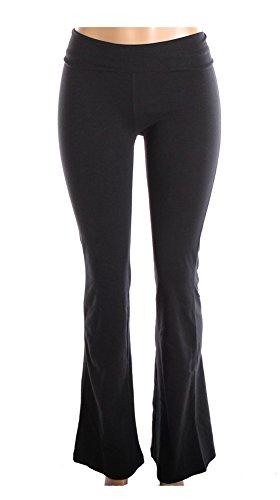 Mopas Cotton Spandex Yoga Pants for Fitness Gym Athletics & Lounge Black Medium
