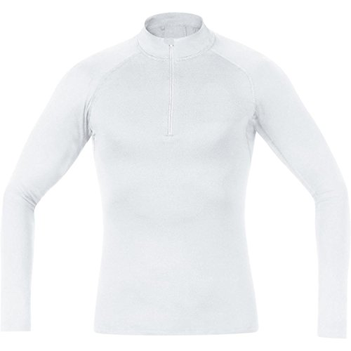 (Gore Bike WEAR Men's Base Layer Turtleneck Shirt, White, X-Large)