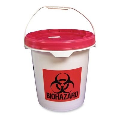 5 Gal. Mail-Away Non-Sharps Container,16x16x16-1/2,RD/WE (UMISC5G129000) Category: Medical Trash Cans by Unimed-Midwest, (Mail Away Sharps Container)