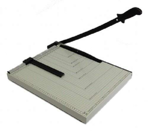 Paper Cutter Guillotine Style 18'' Cut Length X 15'' Inch Metal Base Trimmer by EDMBG