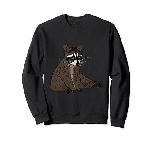 (Sweet looking Raccoon Animal is sitting on the ground Sweatshirt)