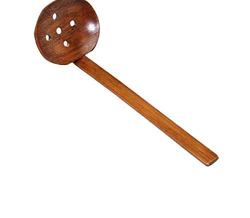 Multi-Use Nature Solid Wood Ladle Serve Set Pierced Table Spoon Pot Ramen Soup Buffet Slotted Spoon,Pierced Spoon (Fire Emblem Awakening Best Price)