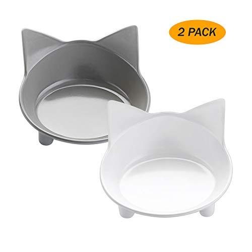 lesotc Cat Bowls,Cat Food Bowls, Double Cat Dish