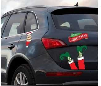amazoncom christmas decor for car 10 footloose elf santas little helper legs automotive magnet everything else
