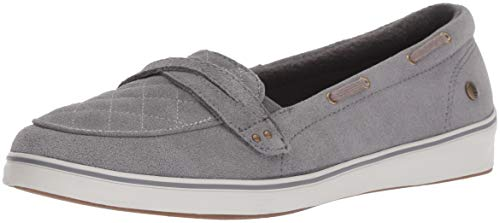 (Grasshoppers Women's Windham Suede Boat Shoe,Gray,7.5 N)