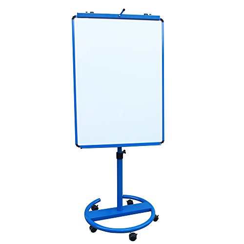VIZ-PRO ECO Magnetic Mobile Whiteboard/Flipchart Easel, Blue, 28 X 40 Inches