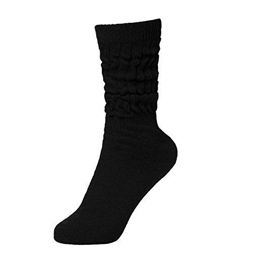 BRUBAKER Womens Or Mens Fitness Workout Slouch Socks Gym Black EU39-42 / US6.5-10