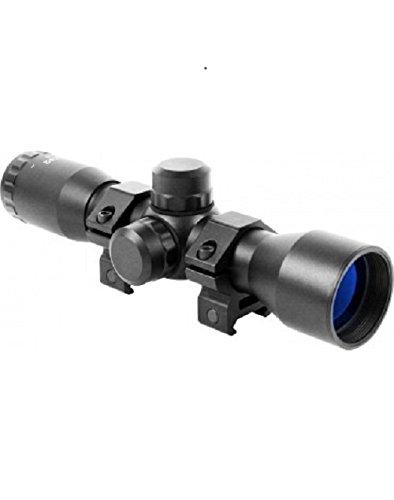 M1SURPLUS Optics Kit With Compact 4x32 Rifle Scope + Ring Mounts Fits Weaver Picatinny Rails Fits Mossberg 715t MMR FLEX-22 Remington Model 597 - Mount Remington Scope 597