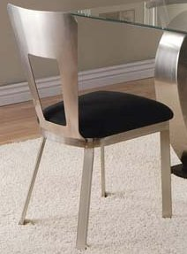 ACME Camille Side Chair, Chrome Finish, Set of 2 (Unique Dining Table And Chairs)