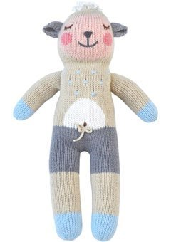 (Blabla Wooly the Sheep Mini Plush Doll - Knit Stuffed Animal For Kids. Cute, Cuddly & Soft Cotton Toy. Perfect, Forever Cherished. Eco-Friendly. Certified Safe & Non-Toxic.)