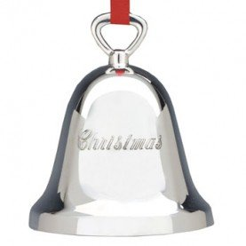 Barton Silverplate Bell - Reed & Barton Christmas Silver-plated Christmas Bell