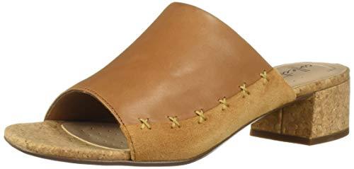 (CLARKS Women's Elisa Abby Heeled Sandal, tan Leather/Suede Combi, 090 W US )