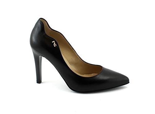 au décollet Nero 38 en 806860 5 Pied Cuir Giardini Femme Noires Chaussures qSYXFAS