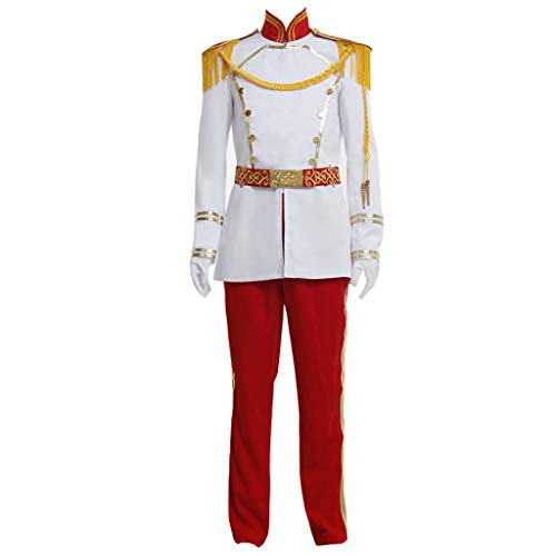 CosplayDiy Men's Halloween Costume Suit for Prince Charming Cosplay XS -