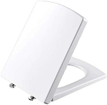 CXMWYトイレのふた ソフトクローズ&クイックリリースヒンジ、尿素 - ホルムアルデヒド樹脂、白でスクエアホワイト便座