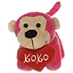 Fiesta Toys Valentines Day XOXO Hugs and Kisses Monkey Plush Stuffed Toy Pink - 6""