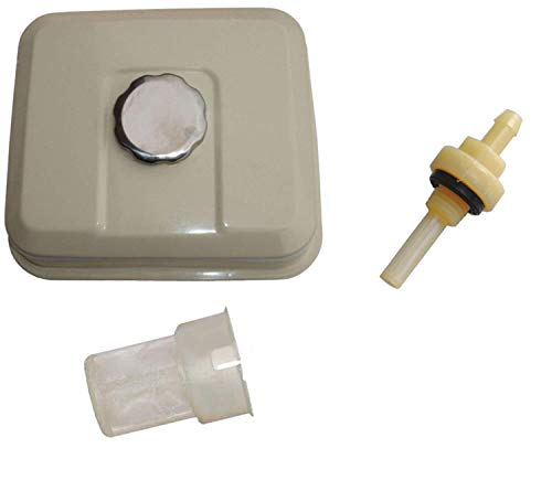 Gas Honda Tank Gx160 - NEW Fuel Tank Gas For Honda GX160 for 5.5HP with Petcock Gas Cap Filter White