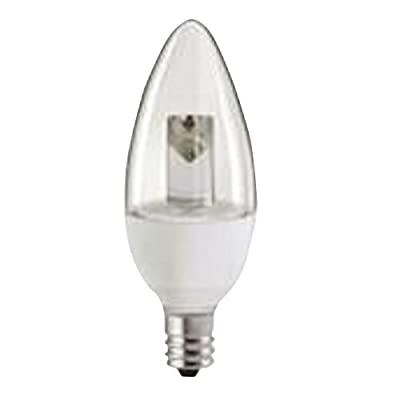 EcoSmart Soft White (2700K) Clear Blunt Tip Decorative Candelabra Base LED Light Bulb
