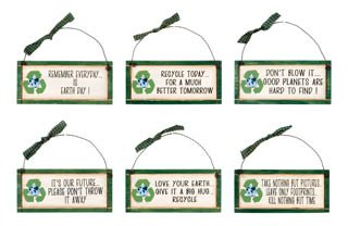 The Good Green Earth Signs Assortment - Set of 6 ()