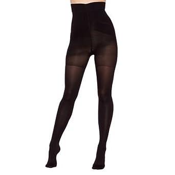 1d0e5edb7d0 Womens 80 Denier Opaque High Waist Firm Control Shaping Support Tights  Black  Debenhams  Amazon.co.uk  Clothing